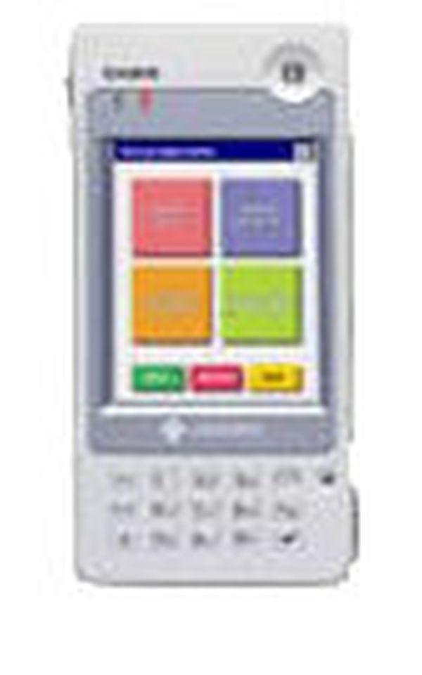 Терминал сбора данных Casio IT 500, Windows CE. NET, 32 Mb, цветной сенсорный экран, с лазерным сканером, 802.11b