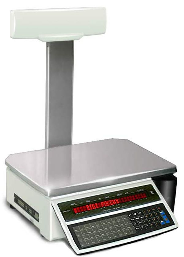 Электронные весы DIGI SM 100PCS+ (Весы с печатью, 15 кг; с платой Ethernet)