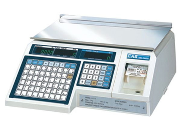 Весы CAS LP 15 (1.6VS.Dual,TCP/IP) (Весы без стойки, до 15 кг)