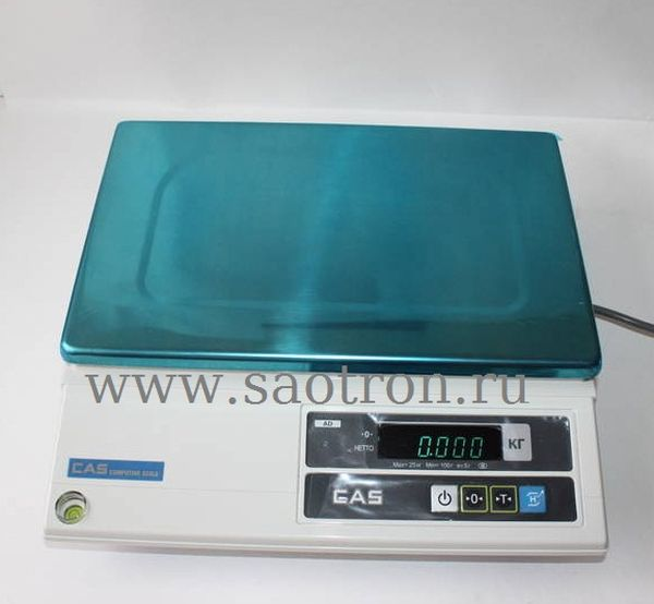 Электронные весы CAS AD-20H (настольные, с дисплеем, НПВ: 20 кг) CAS AD-20H