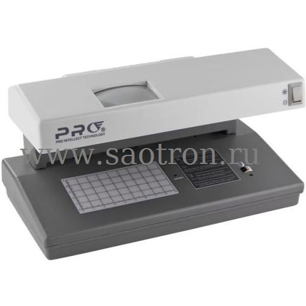Просмотровый ультрафиолетовый детектор валют PRO 12 LPM gray