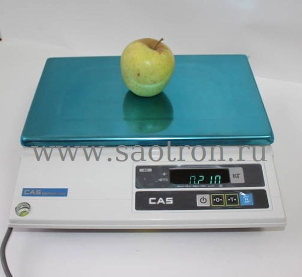 Электронные весы CAS AD 10 (настольные, с дисплеем, НПВ: 10 кг)