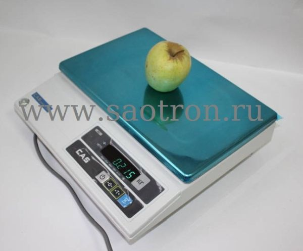 Электронные весы CAS AD 25 (настольные, с дисплеем, НПВ: 25 кг)