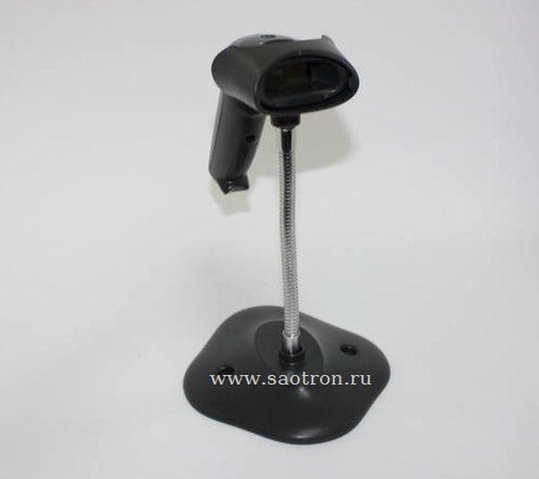 Сканер штрих кода Zebra / Motorola Symbol LS1203 KIT: USB (Лазерный сканер, черный, в комплекте кабель и подставка)