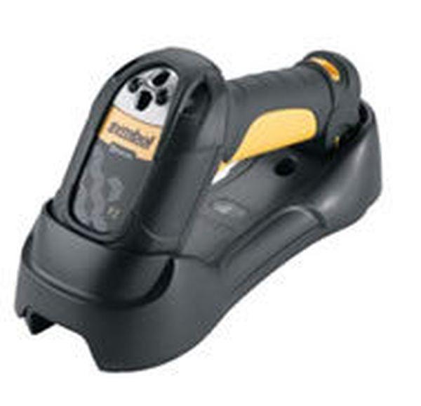 Сканер штрих-кода Zebra / Motorola Symbol LS3578 KIT: USB (Беспроводный (Bluetooth V.1.2) LASER (ER) сканер, в комплекте базовая станция, кабеля USB/Line Cord и БП) Motorola Symbol LS3578-ERBU0100UR