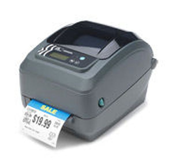 Термотрансферный принтер этикеток Zebra GX430t (300 dpi, RS232, USB, LPT, Сетевая карта 10/100 Ethernet)