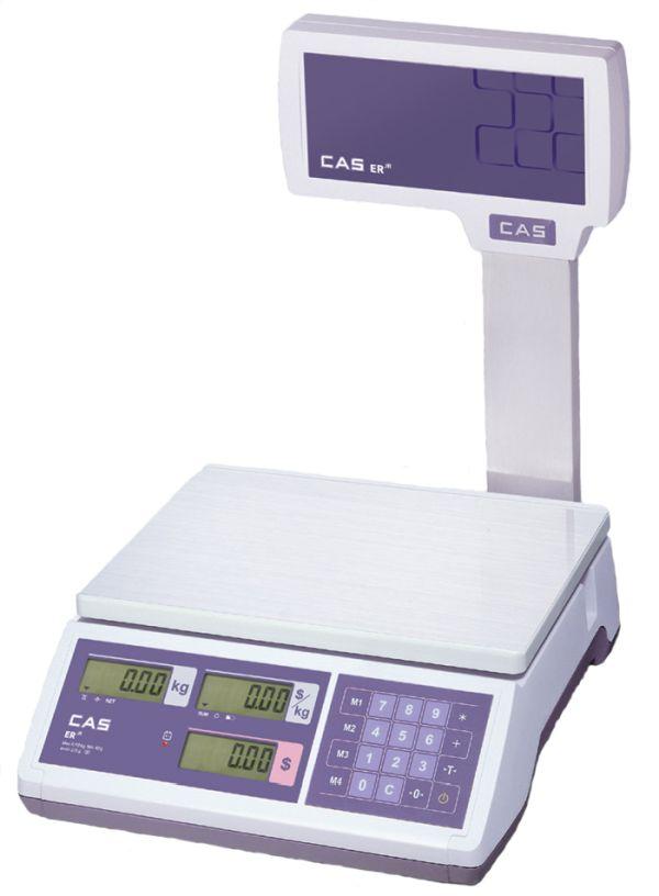Весы CAS ER JR-15CBU (POLE) (НПВ: 15 кг, со стойкой, с подсветкой) CAS ER JR-15CBU