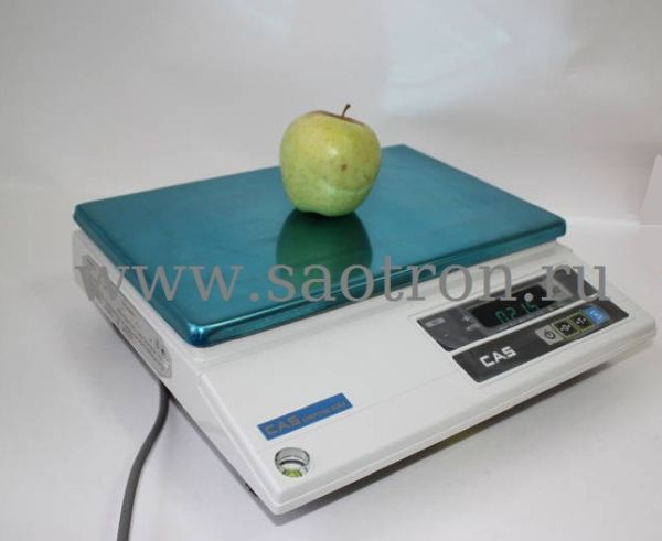 Электронные весы CAS AD 2,5 (настольные, с дисплеем, НПВ: 2,5 кг)