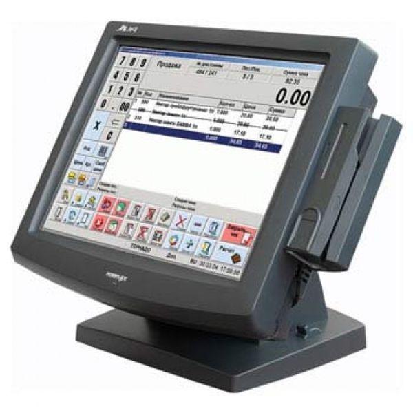 Сенсорный терминал Posiflex Jiva 8015N B черный, 15 TFT, Celeron 2.0 GHz, 80 GB HDD, 512 MB DDR RAM, RS 232, без ОС