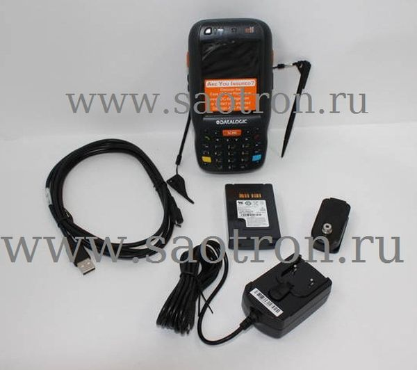 Терминал сбора данных Datalogic Elf with Bluetooth v2.0, 802.11 a/b/g CCX V4, Std Laser w/ Green Spot, Camera 3MPixel, Windows Mobile 6.5, 256MB RAM/2