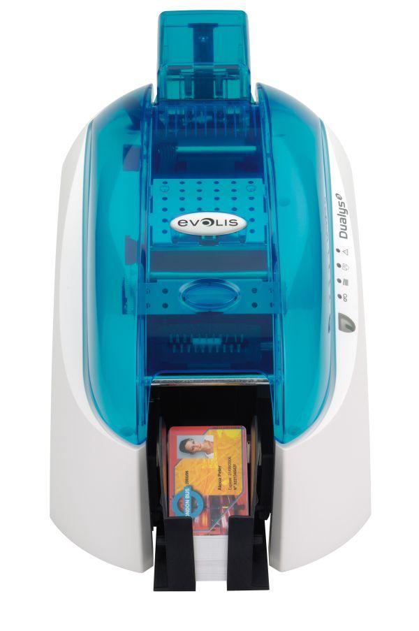 Принтер Evolis Tattoo2 RW MAG, (цвет   голубой), USB+Ethernet