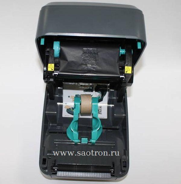 Термотрансферный принтер этикеток Zebra GK420t (203 dpi, RS232, USB, LPT, диспенсер)
