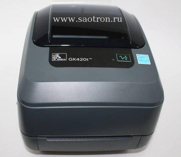 Термотрансферный принтер этикеток Zebra GK420t (203 dpi, USB, Сетевая карта 10/100 Ethernet)