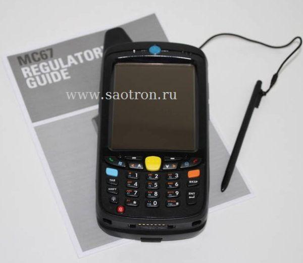 Терминал Zebra / Motorola Symbol MC67NA PBABAA00300 (HSPA+, 802.11a/b/g/n, Imager, WLP, BB, 512/2GB, Qwerty, WM6.X, 1.5X)