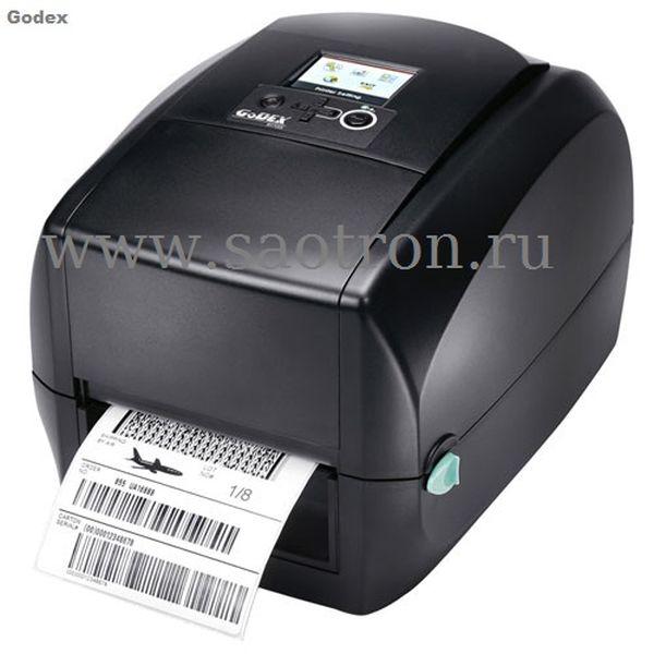 Термотрансферный принтер этикеток Godex RT730i (300 dpi, ЖК-Дисплей, USB/RS232/Ethernet) Godex 011-73iF02-000