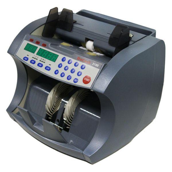 Счетчик банкнот DoCash 3050 SD/UV (задняя загрузка, 1 карман, 1000 банкнот/мин, загрузочный бункер   200 банкнот, детекция по размеру и УФ)