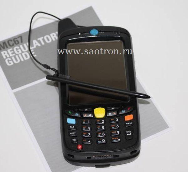 Терминал Zebra / Motorola Symbol MC67NA PDABAA00300 (HSPA+, 802.11a/b/g/n, Imager, Camera, 512MB/2GB, Qwerty, WM6.5, 1.5X)