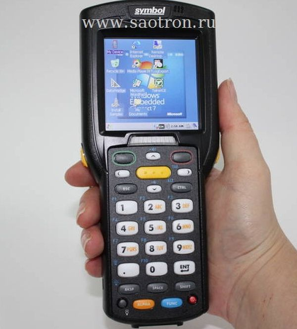 Терминал сбора данных Zebra / Motorola Symbol MC32N0 RL2HCLE0A (WLAN/BT, Rotating Head, 1D Laser, Color touch display, 28 Key, Hi.bat, CE 7.x Pro, 512MB RAM/2GB ROM)