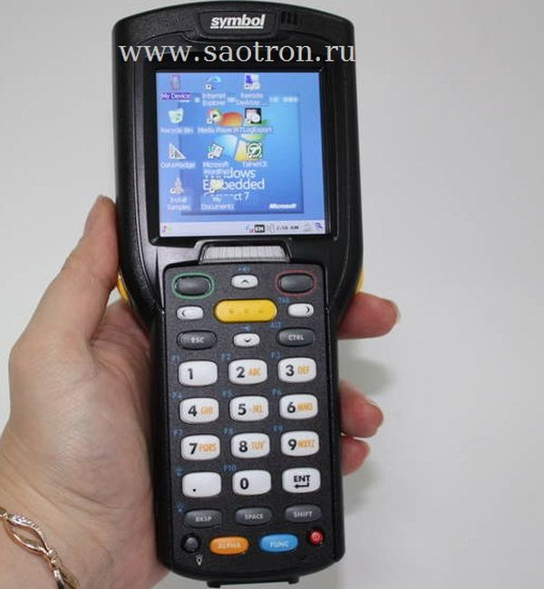 Терминал сбора данных Zebra / Motorola Symbol MC32N0 RL2SCLE0A (WLAN/BT, Rotating Head, 1D Laser, Color touch display, 28 Key, St.bat, CE 7.x Pro, 512MB RAM/2GB ROM)