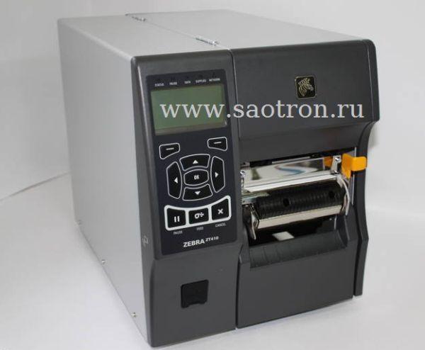 Принтер этикеток Zebra ZT41042 T3E0000Z (203 dpi, USB/RS232/Ethernet/BT, отделитель, намотчик подложки)