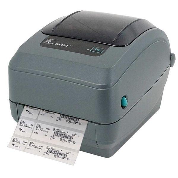 Термотрансферный принтер этикеток Zebra GX420t (203 dpi, RS232, USB,LPT, Отделитель)