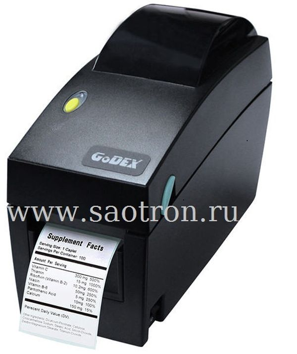 Термо принтер этикеток Godex DT2x (203 dpi, USB+RS232+Ethernet) Godex 011-DT2252-00A