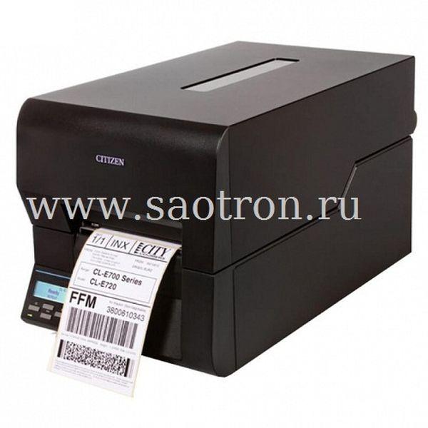 Термотрансферный принтер этикеток Citizen CL E720 (203 dpi, черный, USB/Ethernet]