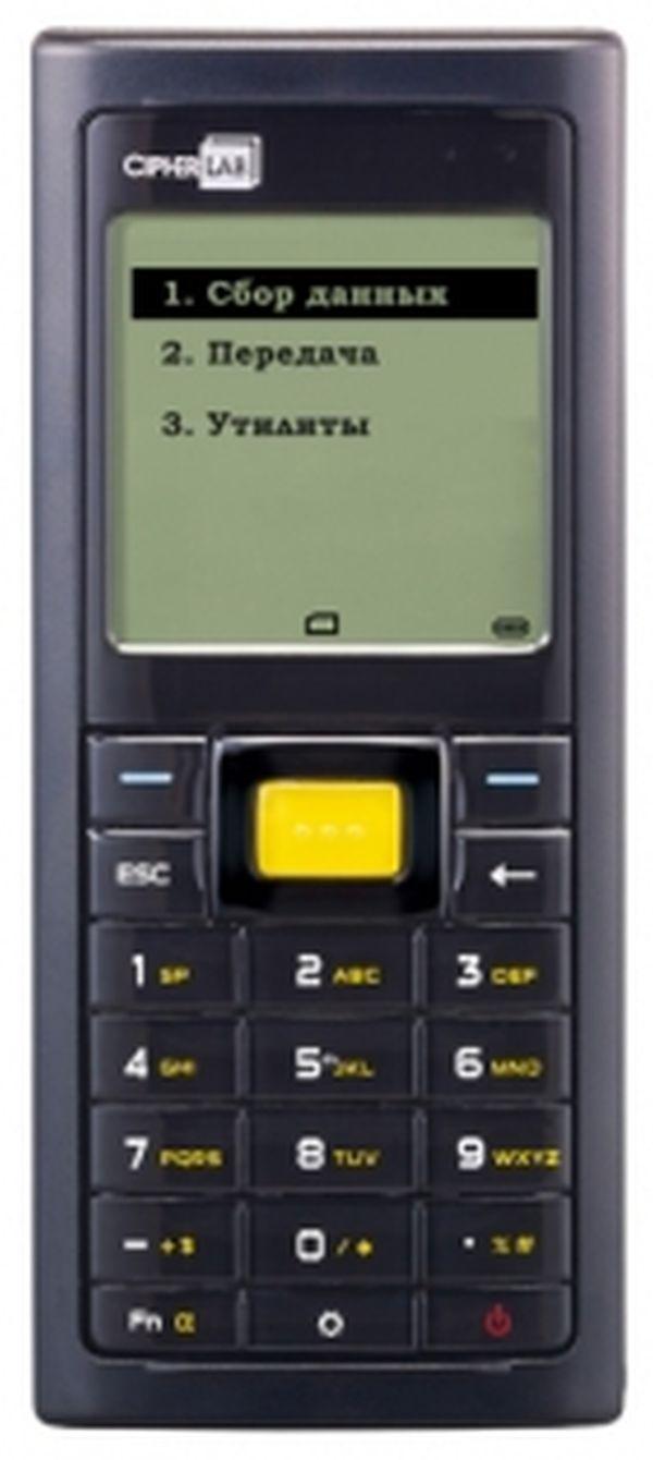Терминал сбора данных CipherLab 8200L 8MB (лазерный считыватель, кабель USB (без подставки)) Cipher A8200RSL82UU1
