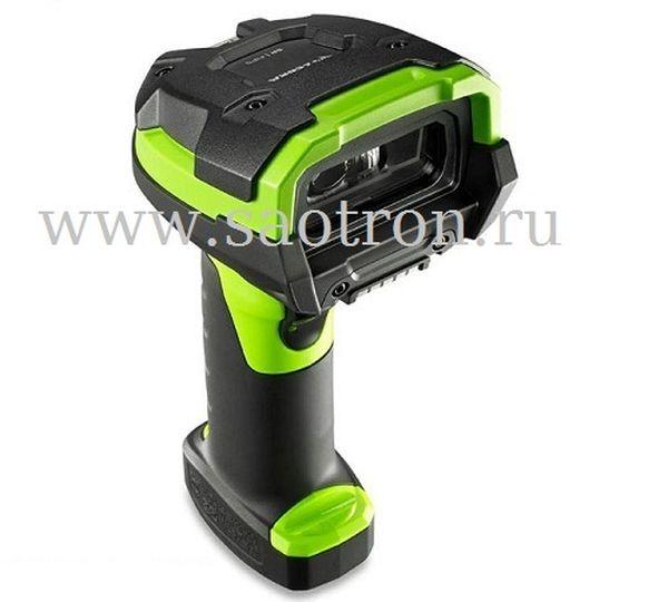 Сканер штрих кода Zebra DS3608 KIT: USB (2D, High Density Imager, IP67, Green, в комплекте кабель USB)