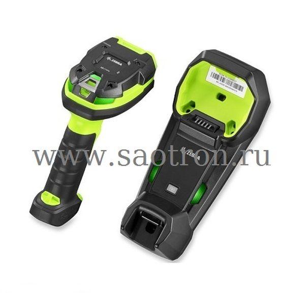 Сканер штрих-кода Zebra DS3678-HD3U4210SF KIT: USB (HD Rugged Green, в комплекте подставка STB3678-C100F3WW, кабель USB, БП и кабели DC и AC) Zebra DS3678-HD3U4210SFW