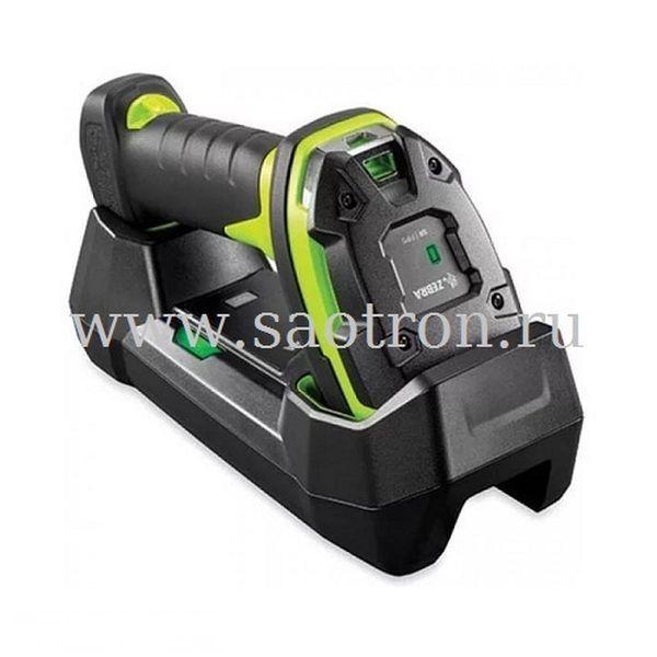 Сканер штрих кода Zebra LI3678 SR3U42A0S1W KIT: USB (SR Rugged Green, в комплекте подставка STB3678 C100F3WW, БП PWRS 14000 148R, кабели DC и AC)