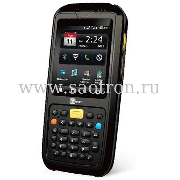 Терминал сбора данных Cipher CP60 (6070)-L (Wi-Fi/BT/GPS, 1D Laser, SNAP-ON Kit, WinCE 6.0, 3600mAh Li-ion,Камера, в комплекте с подставкой, блоком п Cipher A607WCNLD3RUN