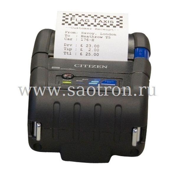 Мобильный термопринтер Citizen CMP 40 (DT, 203dpi, ширина печати 104мм, Serial/USB, Bluetooth (iOS/MFi), CPCL/ESC)