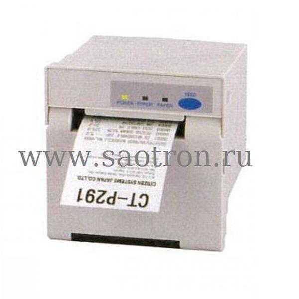 Чековый принтер Citizen CT P291 (DT, Parallel+Serial+USB, 24V, No PSU, HOSHIDEN connector, белый)