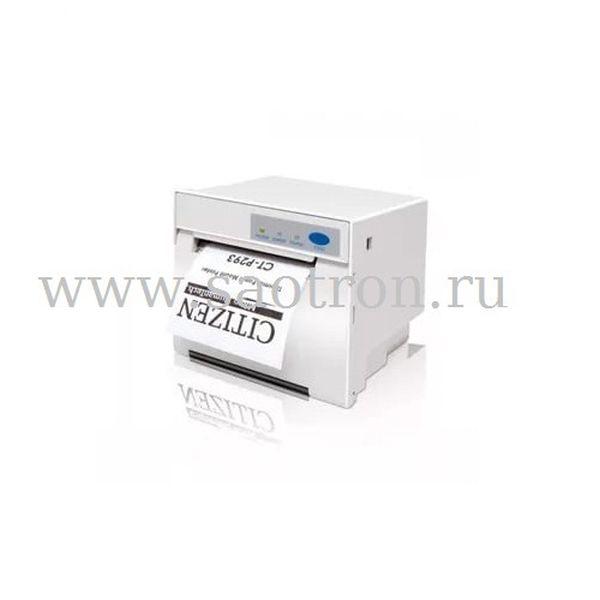 Чековый принтер Citizen CT-P293 (DT, Parallel+Serial+USB, 24V, No PSU, HOSHIDEN connector, белый) Citizen CTP293ALWHDC
