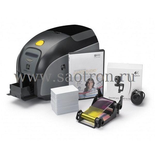 Принтер пластиковых карт Zebra QuikCard ZXP1 (односторонний цветной, USB, ПО CardStudio, Вебкамера, 100 карт, риббон)