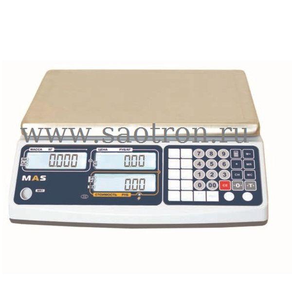Весы торговые MASTER MR1-30 (НПВ:30 кг , без стойки) MAS MR1-30
