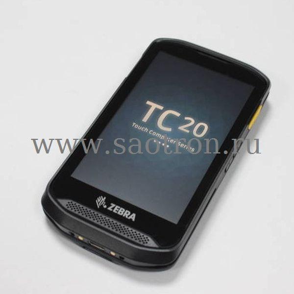 Терминал сбора данных Zebra TC20 (LAN, GMS, EDA, SE2100 no camera, 2GB/16GB, 3.5mm Audio Jack, blank back door, ROW (Not Comp. with Trigger Handle) Zebra TC200J-10A111A6