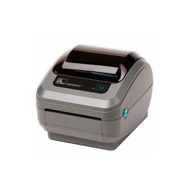 Термопринтер этикеток Zebra GX420d (203 dpi, RS232, USB, LPT) + отделитель