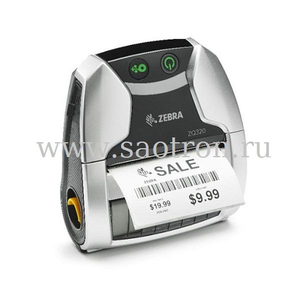 Мобильный принтер Zebra ZQ320 (Bluetooth, Linerless, No Label Sensor, Outdoor Use, English, Group E)