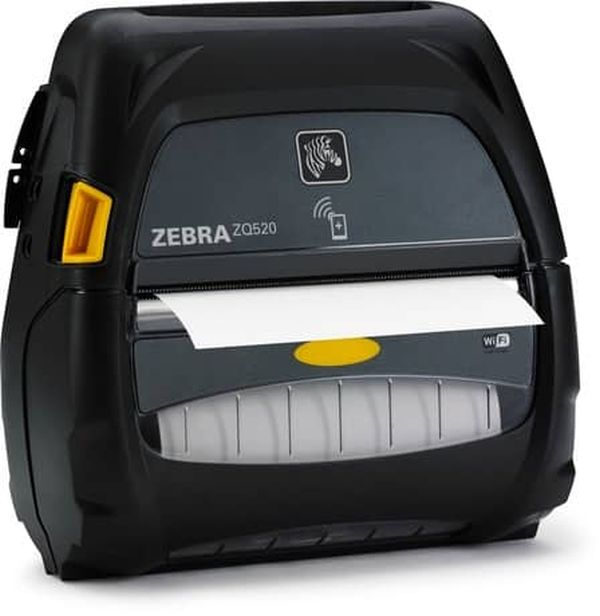 Мобильный принтер Zebra ZQ520 DT (Bluetooth 4.0, Linered Platen, No Battery (for use with battery eliminator or extended battery options), Grouping E)