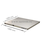 нержав. сталь НПВ: 1000кг, Размер платформы мм: 1250*1000*100, 4D-P.SP-2-1000 4D-P.SP-2-1000