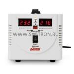 ступенчатый регулятор, цифровые индикаторы уровней напряжения, 1000ВА, 140-260В, 7А, AVS1000D AVS1000D