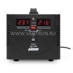 ступенчатый регулятор, цифровые индикаторы уровней напряжения, 1000ВА, 140-260В, 7А, AVS1000DBlack AVS1000DBlack