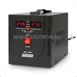 ступенчатый регулятор, цифровые индикаторы уровней напряжения, 1500ВА, 140-260В, 10А, AVS1500DBlack AVS1500DBlack