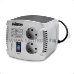 AVS-C   ступенчатый регулятор, 1000ВА/500Вт, 150-280В, 8А, 2 евророзетки, IP-20, напольный, AVS1000C AVS1000C