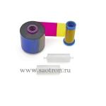 Красящая лента для принтеров пластиковых карт Ribbon, Color-YMCKO, 1/2 Panel, 1250 Images, ZXP7,HS, 800077-747EM 800077-747EM