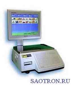 Торговые весы с печатью этикетки CAS CL7000-15S